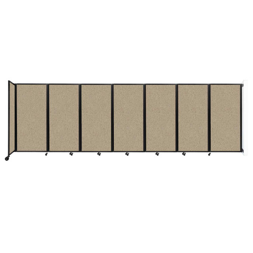 """Wall-Mounted Room Divider 360 Folding Partition 19'6"""" x 6' Rye Fabric"""