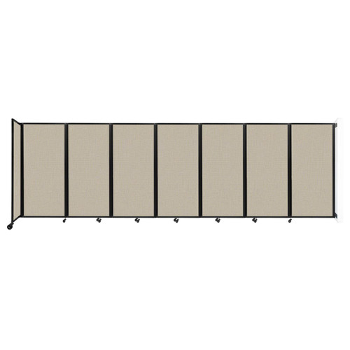 """Wall-Mounted Room Divider 360 Folding Partition 19'6"""" x 6' Sand Fabric"""