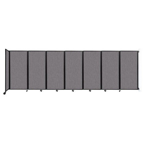 """Wall-Mounted Room Divider 360 Folding Partition 19'6"""" x 6' Slate Fabric"""