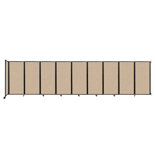 Wall-Mounted Room Divider 360 Folding Partition 25' x 6' Beige Fabric