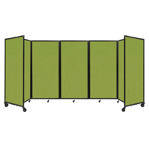 Room Divider 360 Folding Portable Partition 14' x 6' Lime Green Fabric