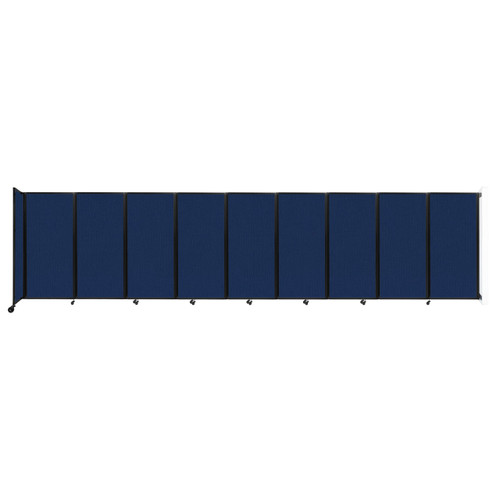 Wall-Mounted Room Divider 360 Folding Partition 25' x 6' Navy Blue Fabric