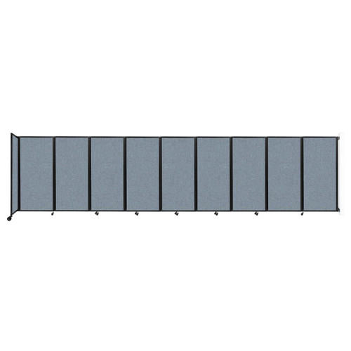 Wall-Mounted Room Divider 360 Folding Partition 25' x 6' Powder Blue Fabric