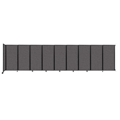 Wall-Mounted Room Divider 360 Folding Partition 25' x 6' Charcoal Gray Fabric