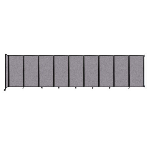 Wall-Mounted Room Divider 360 Folding Partition 25' x 6' Cloud Gray Fabric