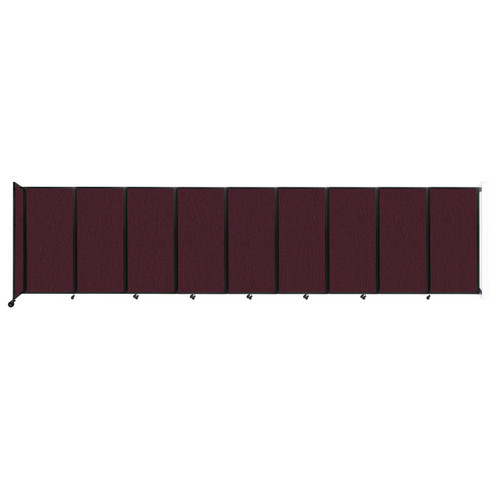 Wall-Mounted Room Divider 360 Folding Partition 25' x 6' Cranberry Fabric