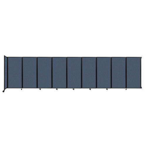 Wall-Mounted Room Divider 360 Folding Partition 25' x 6' Ocean Fabric
