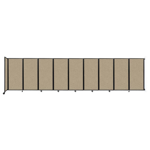 Wall-Mounted Room Divider 360 Folding Partition 25' x 6' Rye Fabric