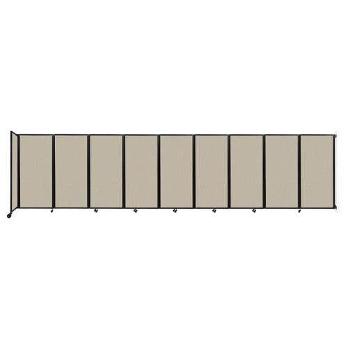 Wall-Mounted Room Divider 360 Folding Partition 25' x 6' Sand Fabric