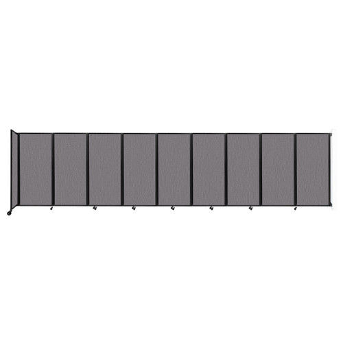 Wall-Mounted Room Divider 360 Folding Partition 25' x 6' Slate Fabric