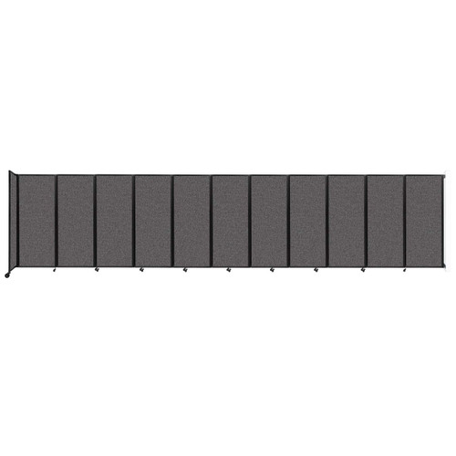 """Wall-Mounted Room Divider 360 Folding Partition 30'6"""" x 6'10"""" Charcoal Gray Fabric"""