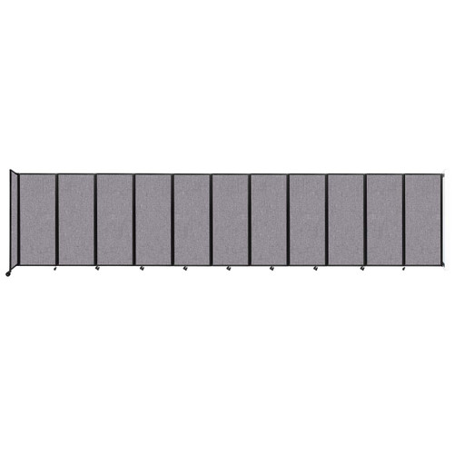 """Wall-Mounted Room Divider 360 Folding Partition 30'6"""" x 6'10"""" Cloud Gray Fabric"""