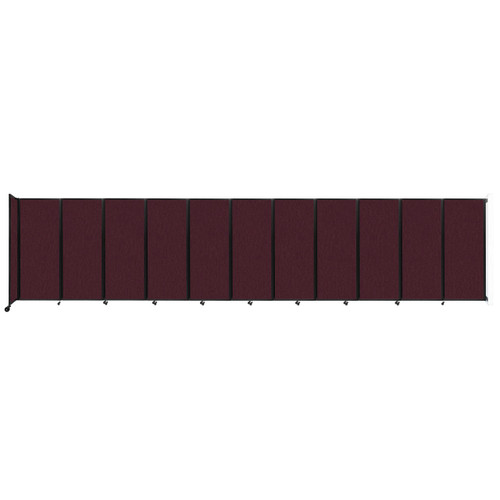 """Wall-Mounted Room Divider 360 Folding Partition 30'6"""" x 6'10"""" Cranberry Fabric"""