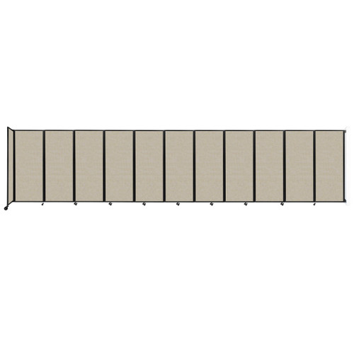 """Wall-Mounted Room Divider 360 Folding Partition 30'6"""" x 6'10"""" Sand Fabric"""