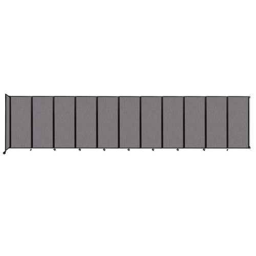 """Wall-Mounted Room Divider 360 Folding Partition 30'6"""" x 6'10"""" Slate Fabric"""