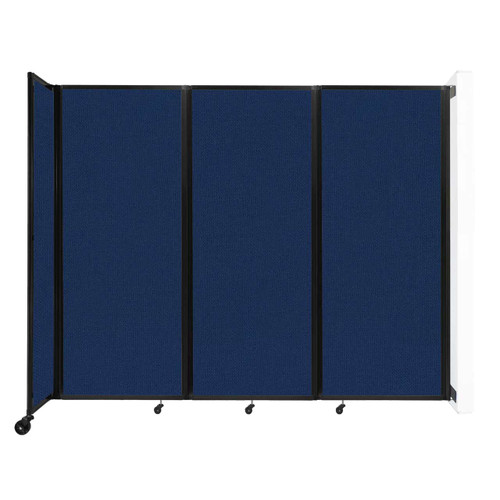 """Wall-Mounted Room Divider 360 Folding Partition 8'6"""" x 6'10"""" Navy Blue Fabric"""