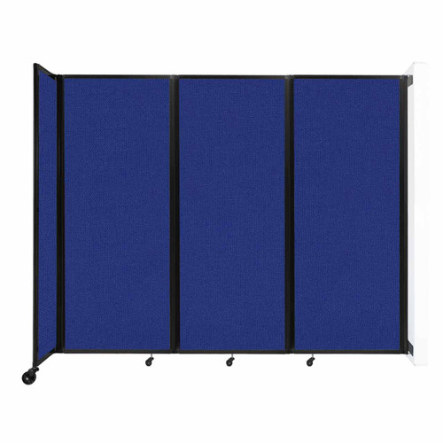 """Wall-Mounted Room Divider 360 Folding Partition 8'6"""" x 6'10"""" Royal Blue Fabric"""