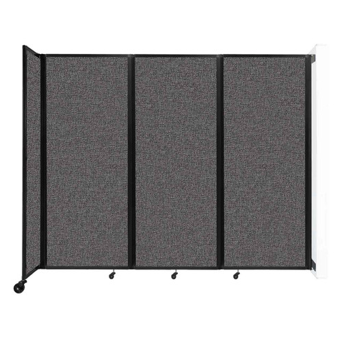 """Wall-Mounted Room Divider 360 Folding Partition 8'6"""" x 6'10"""" Charcoal Gray Fabric"""