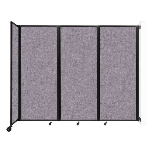 """Wall-Mounted Room Divider 360 Folding Partition 8'6"""" x 6'10"""" Cloud Gray Fabric"""