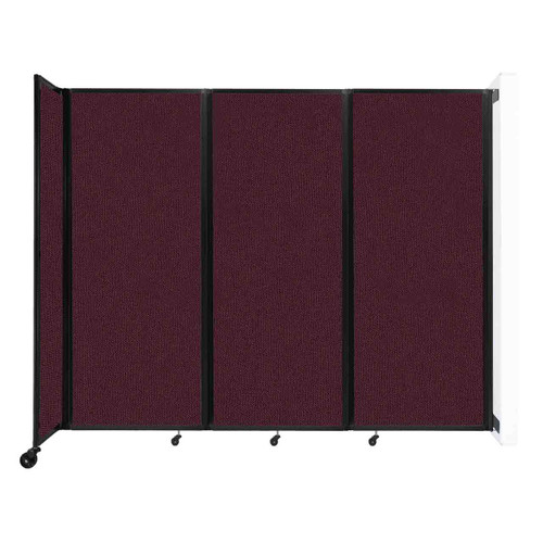 """Wall-Mounted Room Divider 360 Folding Partition 8'6"""" x 6'10"""" Cranberry Fabric"""