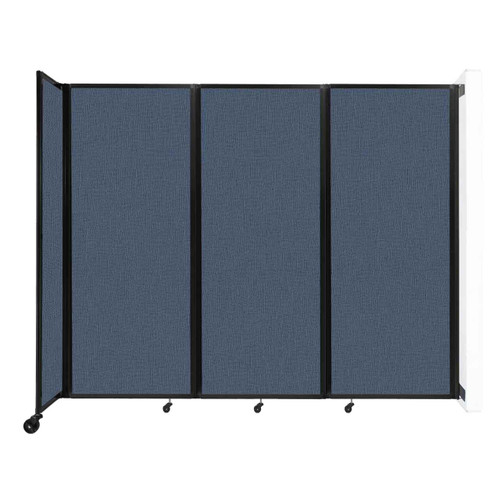 """Wall-Mounted Room Divider 360 Folding Partition 8'6"""" x 6'10"""" Ocean Fabric"""