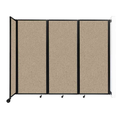 """Wall-Mounted Room Divider 360 Folding Partition 8'6"""" x 6'10"""" Rye Fabric"""