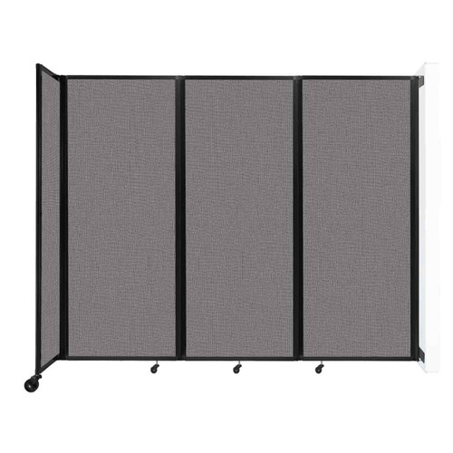 """Wall-Mounted Room Divider 360 Folding Partition 8'6"""" x 6'10"""" Slate Fabric"""
