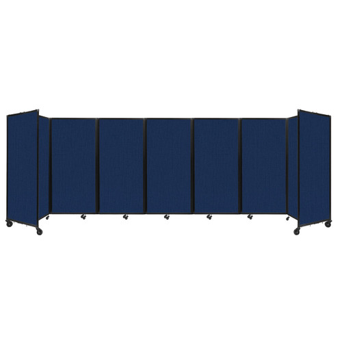 """Room Divider 360 Folding Portable Partition 19'6"""" x 6' Navy Blue Fabric"""