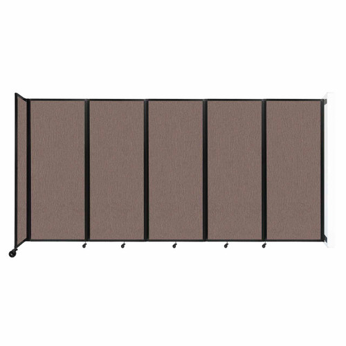 """Wall-Mounted Room Divider 360 Folding Partition 14' x 6'10"""" Latte Fabric"""