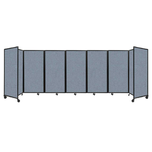 """Room Divider 360 Folding Portable Partition 19'6"""" x 6' Powder Blue Fabric"""