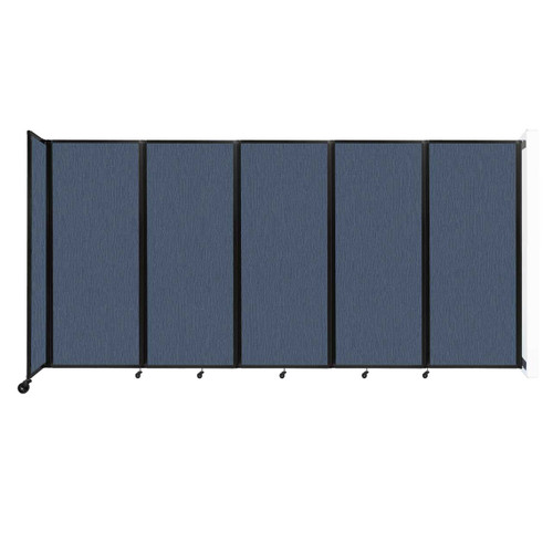 """Wall-Mounted Room Divider 360 Folding Partition 14' x 6'10"""" Ocean Fabric"""