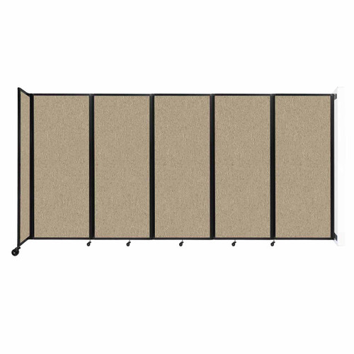 """Wall-Mounted Room Divider 360 Folding Partition 14' x 6'10"""" Rye Fabric"""