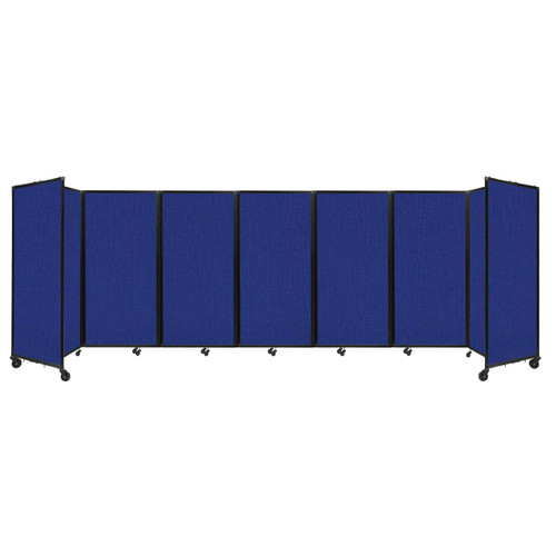 """Room Divider 360 Folding Portable Partition 19'6"""" x 6' Royal Blue Fabric"""