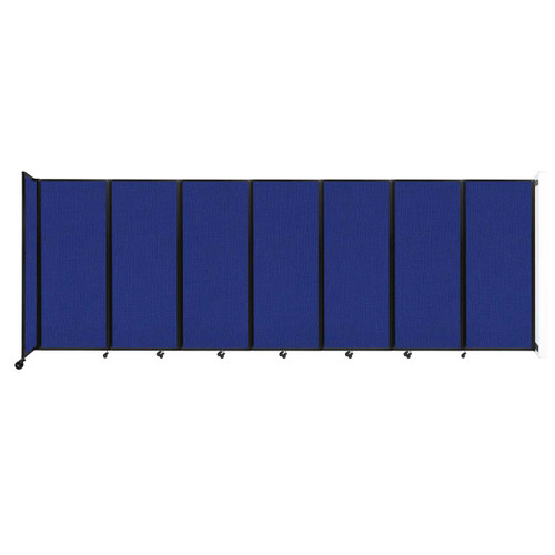 """Wall-Mounted Room Divider 360 Folding Partition 19'6"""" x 6'10"""" Royal Blue Fabric"""