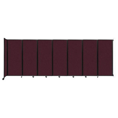 """Wall-Mounted Room Divider 360 Folding Partition 19'6"""" x 6'10"""" Cranberry Fabric"""