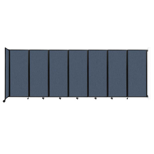 """Wall-Mounted Room Divider 360 Folding Partition 19'6"""" x 6'10"""" Ocean Fabric"""