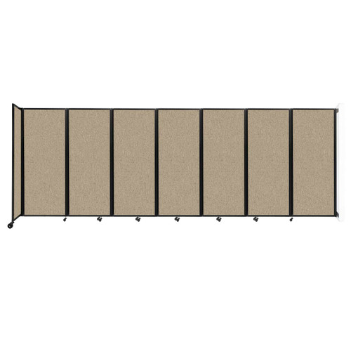 """Wall-Mounted Room Divider 360 Folding Partition 19'6"""" x 6'10"""" Rye Fabric"""