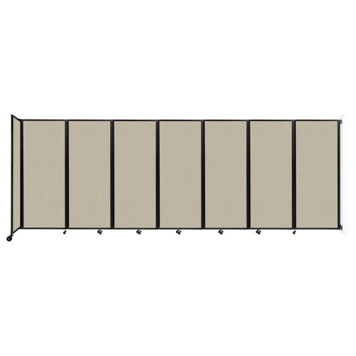 """Wall-Mounted Room Divider 360 Folding Partition 19'6"""" x 6'10"""" Sand Fabric"""