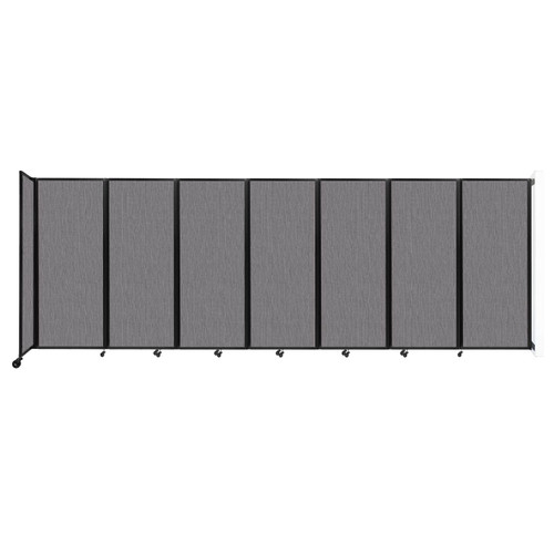 """Wall-Mounted Room Divider 360 Folding Partition 19'6"""" x 6'10"""" Slate Fabric"""
