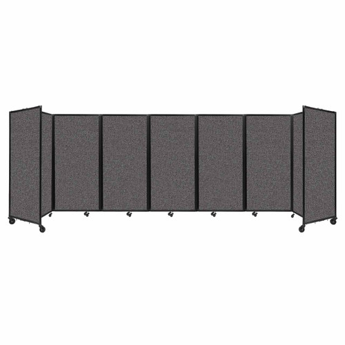 """Room Divider 360 Folding Portable Partition 19'6"""" x 6' Charcoal Gray Fabric"""