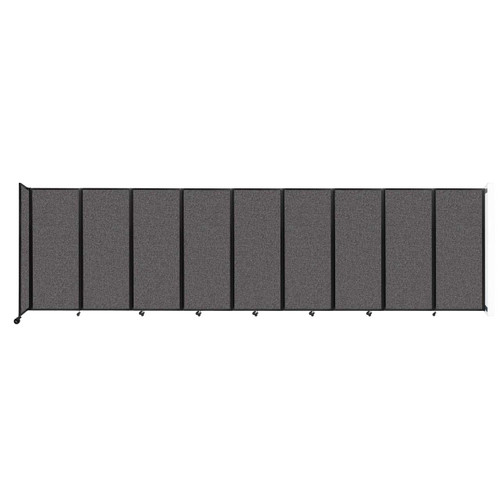 """Wall-Mounted Room Divider 360 Folding Partition 25' x 6'10"""" Charcoal Gray Fabric"""