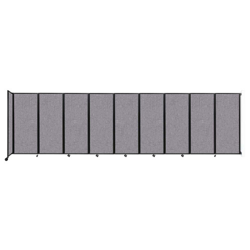 """Wall-Mounted Room Divider 360 Folding Partition 25' x 6'10"""" Cloud Gray Fabric"""