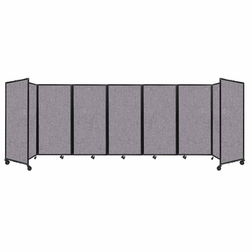 """Room Divider 360 Folding Portable Partition 19'6"""" x 6' Cloud Gray Fabric"""