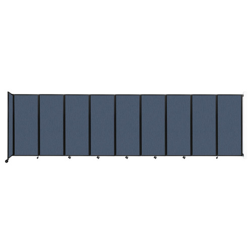 """Wall-Mounted Room Divider 360 Folding Partition 25' x 6'10"""" Ocean Fabric"""