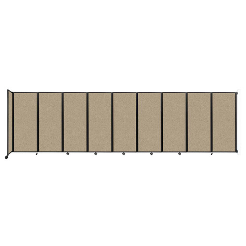 """Wall-Mounted Room Divider 360 Folding Partition 25' x 6'10"""" Rye Fabric"""