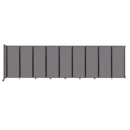 """Wall-Mounted Room Divider 360 Folding Partition 25' x 6'10"""" Slate Fabric"""