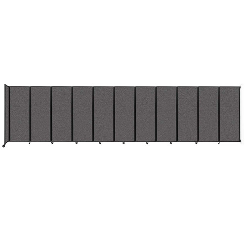 """Wall-Mounted Room Divider 360 Folding Partition 30'6"""" x 7'6"""" Charcoal Gray Fabric"""