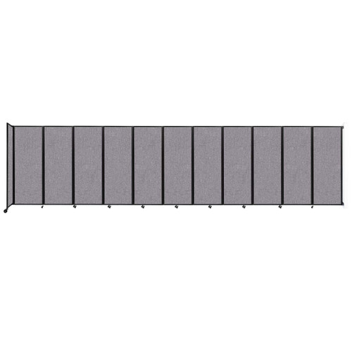 """Wall-Mounted Room Divider 360 Folding Partition 30'6"""" x 7'6"""" Cloud Gray Fabric"""