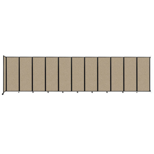 """Wall-Mounted Room Divider 360 Folding Partition 30'6"""" x 7'6"""" Rye Fabric"""
