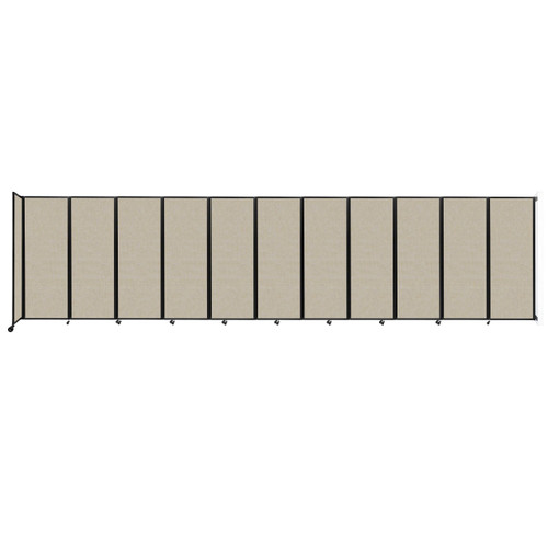 """Wall-Mounted Room Divider 360 Folding Partition 30'6"""" x 7'6"""" Sand Fabric"""